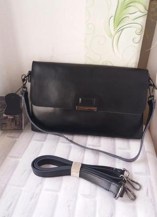 Женская кожаная сумка galanty. жіноча шкіряна