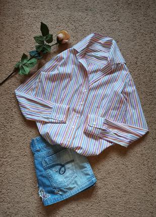 Рубашка оверсайз блуза в полоску германия