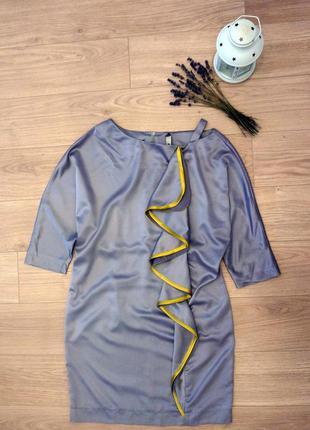Платье из шелка, вечернее, дизайнерское,коктельное