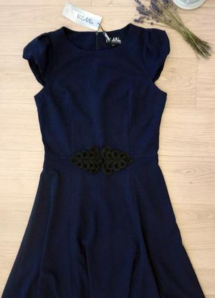 Вечернее платье тёмно-синее