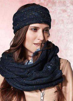 Вязанный шарф-снуд tcm tchibo германия