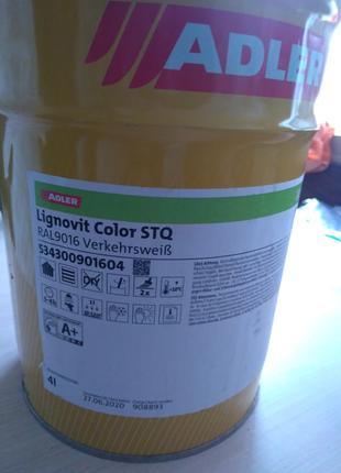 Краска белая укрывная Adler Lignovit color STQ RAL9016