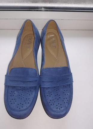 Замшевые туфли на среднем каблуке hotter
