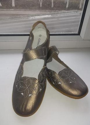 Брендовые балетки туфли damart натуральная кожа