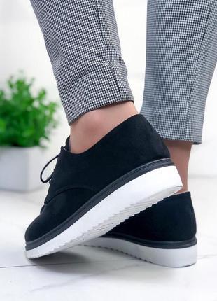 Черные замшевые туфельки