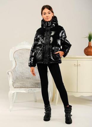 Куртка на девочку демисезонная с капюшоном модная стильная теп...