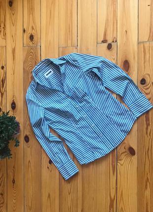 Прямая рубашка в полоску mark o'polo.