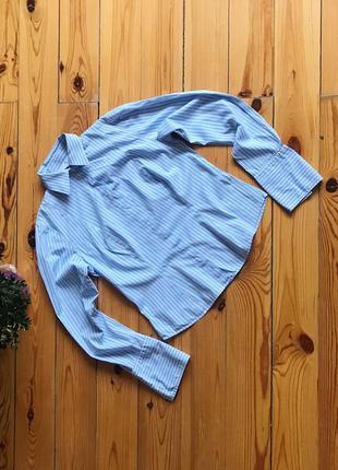 Классическая офисная рубашка в полоску в стиле zara.