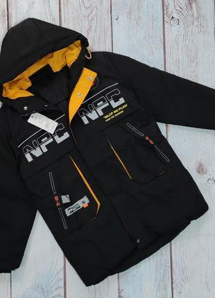 Демисезонная осенняя теплая подростковая детская куртка пальто...