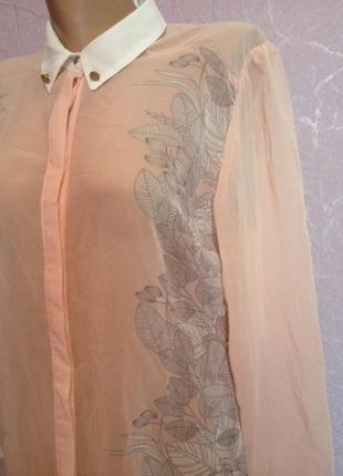 Блуза шифон с очень нежным рисунком цветов