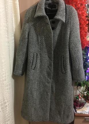 Шикарное теплое шерстяное пальто season