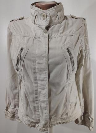 Женская куртка ветровка на пуговицах без подкладки размер l