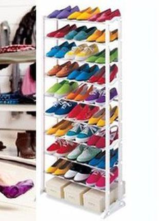 Органайзер для обуви, этажерка shoe rack на 30 пар