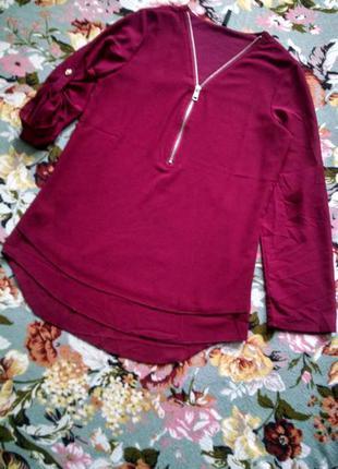 Бордовая блузка 44-46р
