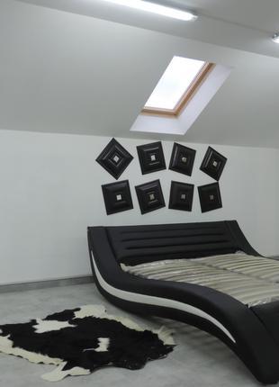 мягкая двуспальная кровать с подьемным механизмом от производител