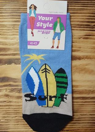"""Носки низкие молодежные """"surf"""", размер 41-43"""