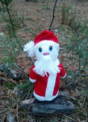 Вязаный Дедушка Мороз