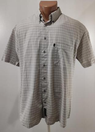Мужская рубашка в клетку размер 48