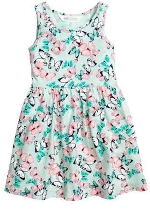 Платье в бабочки h&m 4-6л