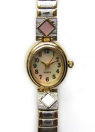 White stag by m.z.berger перламутровые часы из сша мех. japan sii