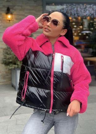 Куртка женская комбинированная деми