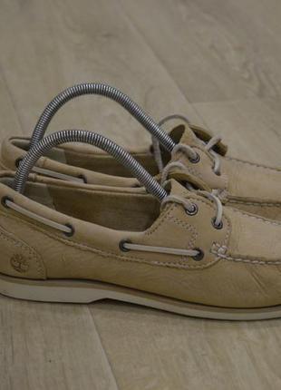 Timberland женские туфли топ сайдеры кожа нубук оригинал