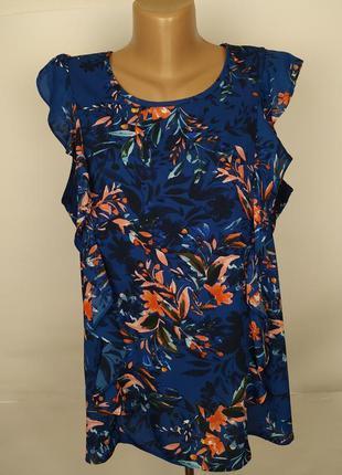 Блуза стильная цветочная в принт uk 16/44/xl