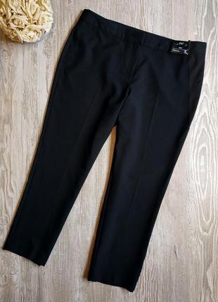 Зауженные укороченные брюки f&f размер 16