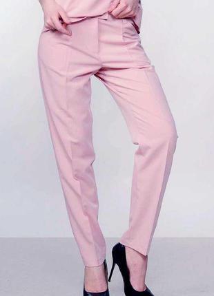 Обалденные брюки лиловая  пудра,высокая посадка , весна 2020