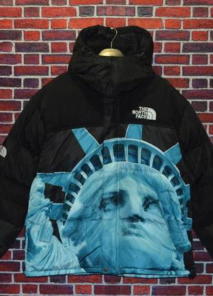 Пуховик supreme the north face statue of liberty