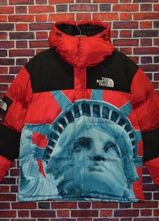 Пуховик supreme the north face statue новинка 2020 года