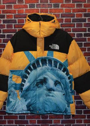 Пуховик supreme the north face statue  новинка