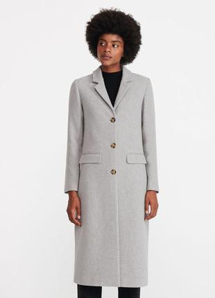 Тёплое пальто мужского кроя. reserved. размеры уточняйте.