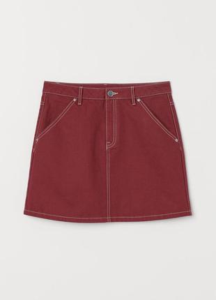 Джинсовая юбка цвета ржавщины/ джинсова спідниця кольору іржі