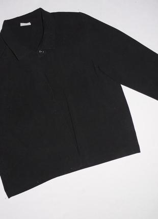 Классный пиджак / кофта / рубашка . свободного кроя . черный ....