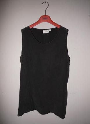 Блуза оверсайз из 100% шелка . черная .