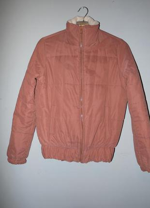 Курточка дутик на плюшевой подкладке . весна / осень  . бордовая