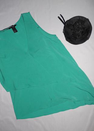 Зеленая кофта . блуза с рюшами