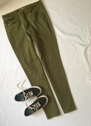 Джинсы зеленые в винтажные стиле ( американский винтаж ) высок...
