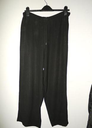 Rene lezard  . брюки из тонкой шерсти . черные на талию . ровн...