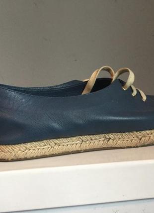 Туфли ( кеды ) на соломенной подошве из тонко кожи