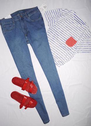 Хит !!!❤️❤️❤️ джинсы скини ( skinny denim ) h&m . синие высока...