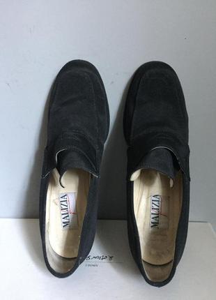Туфли из кожи и текстиля чёрные , классические , италия .