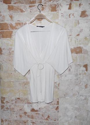Кремовая  туника - мини платье - кофта