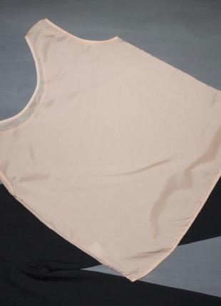 Шелковая блуза . нежно персикового цвета