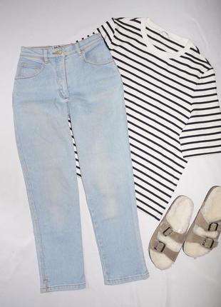 Джинсы на талию . винтаж  . американские мам джинсы голубые mo...