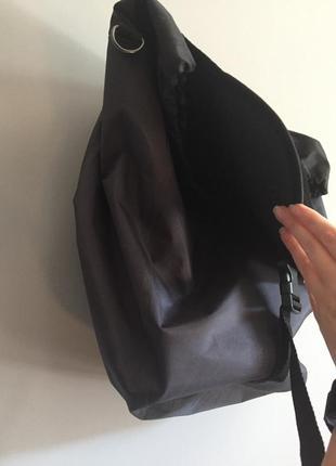 Темно серая брезентовая сумка на тележку ( кравчучку ) тcm