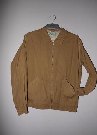 Джинсовая куртка ( рубашка ) коричневая / vintage  / 100% хлопок