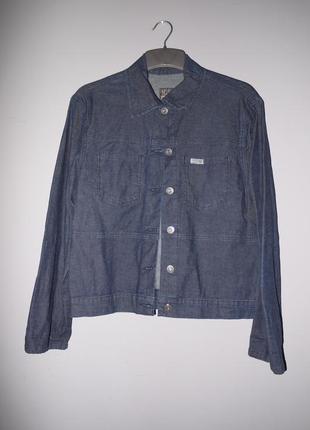 Джинсовка темно синяя / джинсовая куртка - рубашка