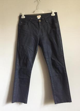 Темно синие узкие джинсы , с необработанным краем cyrillus